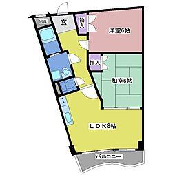セオコート明石II[4階]の間取り