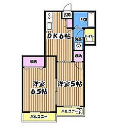 第5東山マンション[1階]の間取り