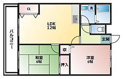 サンパワーマンションI[3階]の間取り