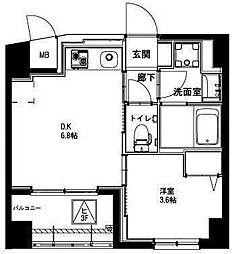 (仮称)平和島・斎藤マンション 4階1DKの間取り