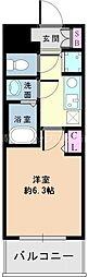 Osaka Metro御堂筋線 新大阪駅 徒歩5分の賃貸マンション 3階1Kの間取り
