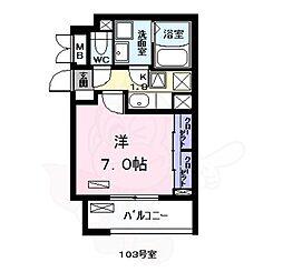 名古屋市営名港線 日比野駅 徒歩17分の賃貸アパート 1階1Kの間取り