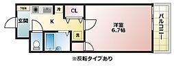 アンビエント八尾2[3階]の間取り