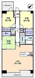 ペルル薬園台[6階]の間取り