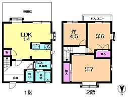 [テラスハウス] 奈良県奈良市朱雀5丁目 の賃貸【/】の間取り
