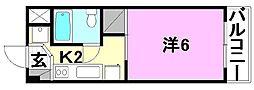 二宮マンション[305号室]の間取り
