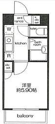スカイコート新宿落合第6[3階]の間取り