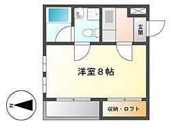 ノヴェル東別院[1階]の間取り
