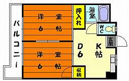メゾン ド めぐみ2[3階]の間取り