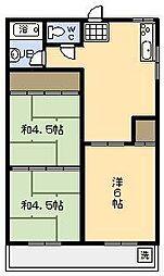 中川マンション[302号室]の間取り