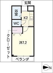 スカイハイツ岩室[3階]の間取り