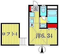 アヴァンセ立石II[2階]の間取り