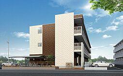 埼玉県草加市新里町の賃貸マンションの外観