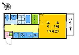 フォレストメゾン諏訪(新築) 1階1Kの間取り
