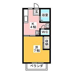 AME YAKIYAMA[2階]の間取り