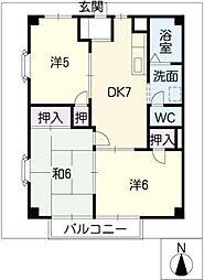 ルフラン小幡[2階]の間取り