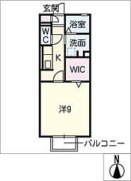 セジュール那加[2階]の間取り
