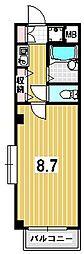 ラ・リビエール[3階]の間取り