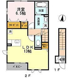 アージョ2[2階]の間取り