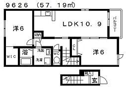 セレーナ[205号室号室]の間取り