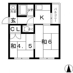 八戸ノ里プラザ[503号室号室]の間取り