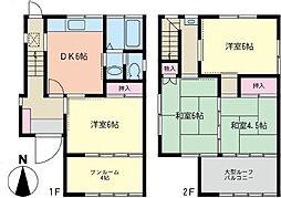 [テラスハウス] 神奈川県横浜市南区南太田2丁目 の賃貸【/】の間取り