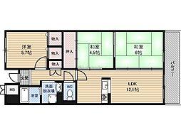 Osaka Metro谷町線 都島駅 徒歩8分の賃貸マンション 1階2LDKの間取り