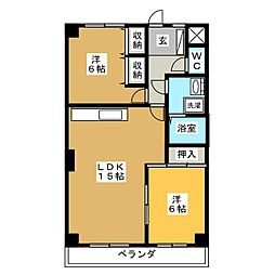 メゾン・ド・フジ[4階]の間取り