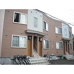 北海道札幌市北区あいの里二条4丁目の賃貸アパートの外観