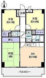 ラ・フォレ薬円台[4階]の間取り