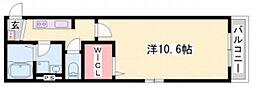 ヘーベルメゾン下寺町[1階]の間取り