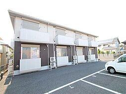 茨城県つくば市研究学園6丁目の賃貸アパートの外観