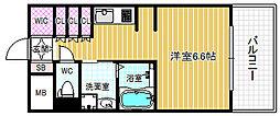 アークアベニュー梅田北[5階]の間取り