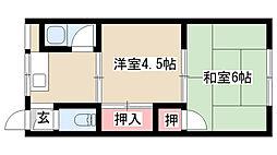 愛知県名古屋市南区曽池町1丁目の賃貸マンションの間取り