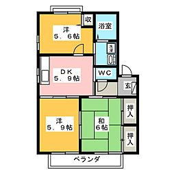 レジデンス C[2階]の間取り