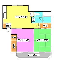 シャトル鈴木II[2階]の間取り