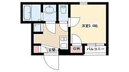 愛知県名古屋市昭和区南分町六丁目の賃貸アパートの間取り