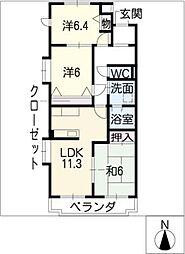 セピアコート21[1階]の間取り