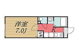 京成本線 京成成田駅 バス20分 三里塚下車 徒歩1分の賃貸アパート 1階1Kの間取り