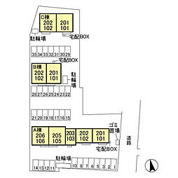 (仮)D-room平井町 C[2階]の外観