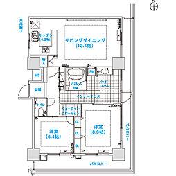 松屋タワー[27階]の間取り