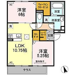 仮)D-room半田市大高町 A棟[102号室]の間取り