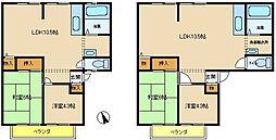 兵庫県神戸市西区水谷3丁目の賃貸アパートの間取り