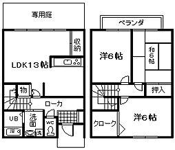 [テラスハウス] 大阪府泉佐野市葵町2丁目 の賃貸【/】の間取り