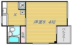 ウィング松江[3階]の間取り