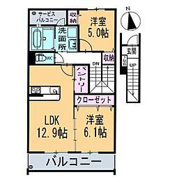 新築フィオーレ[2階]の間取り