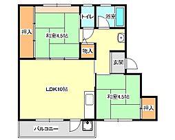 兵庫県神戸市垂水区西舞子8丁目の賃貸マンションの間取り