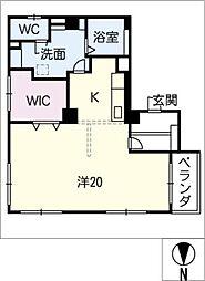 マンション月見台201号室[2階]の間取り