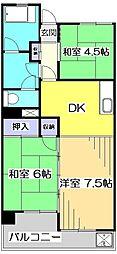 アメニティコウヤマ第3ガーデン[2階]の間取り
