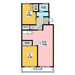 カナヤハイツII[2階]の間取り
